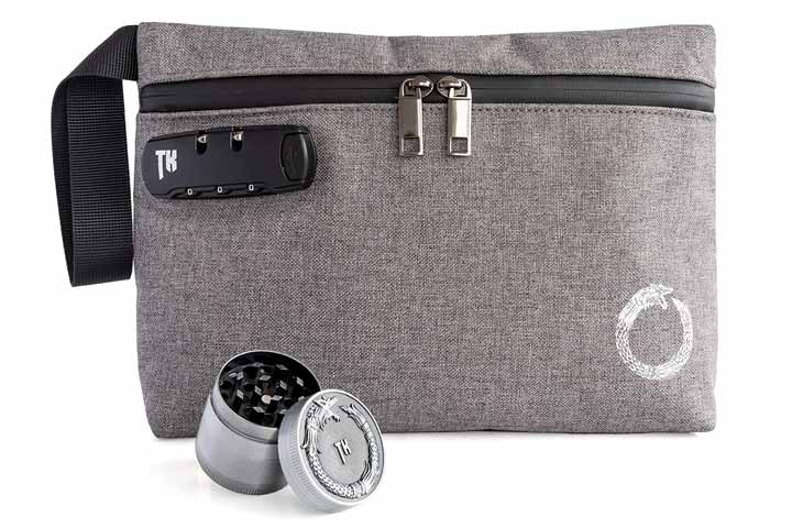 Smell-Proof Bag with Alloy Grinder by Kullurs