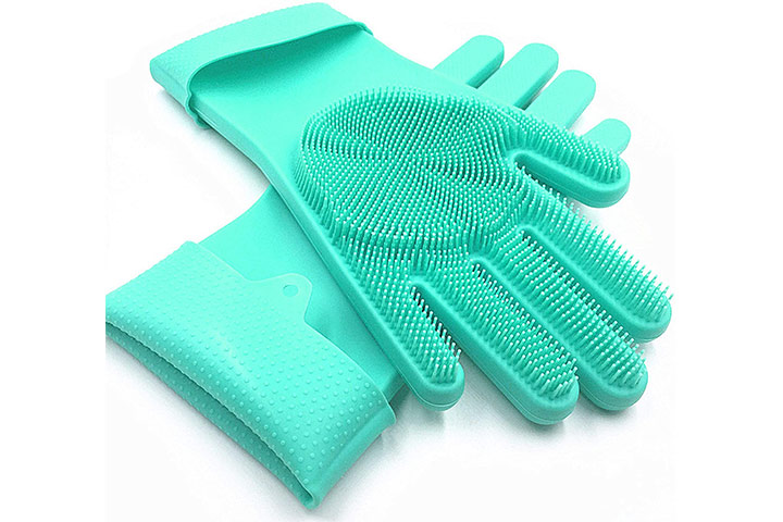 SolidScrub Silicone Dishwashing Scrubbing Gloves