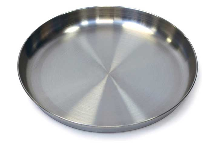 Stansport Stainless Steel Camping Plate, 9-Inch, One Size