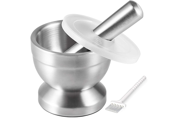 Tera 18/8 Stainless Steel Mortar and Pestle with Brush