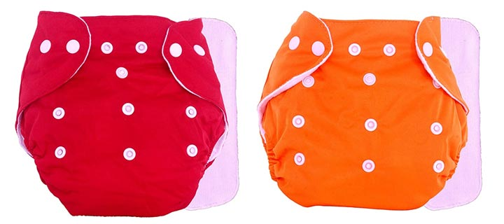 The Little Lookers Adjustable Cotton Pocket Diapers