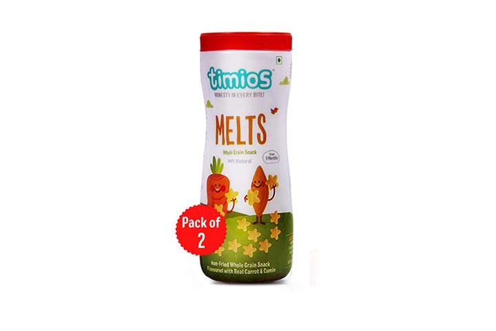 Timios Carrot and Cumin Melts Whole Grain Snack
