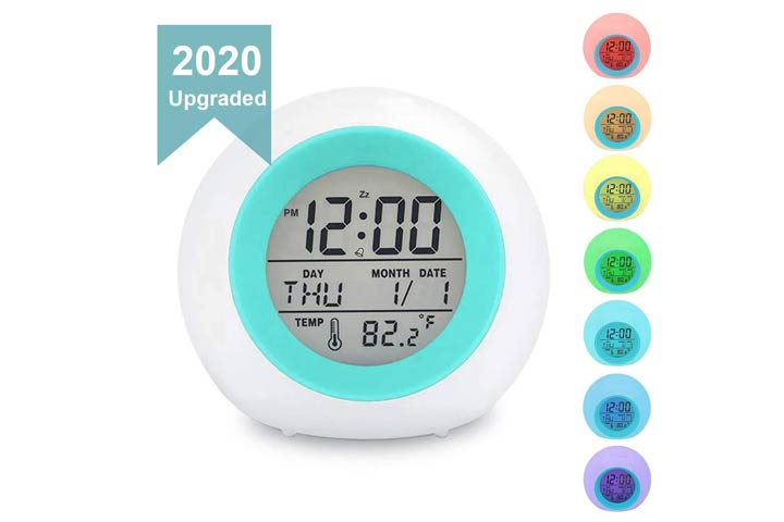 Toota Kids Alarm Clock With Changing Lights