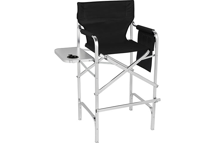 Trademark Innovations 45 Aluminum Frame Tall Metal Director's Chair