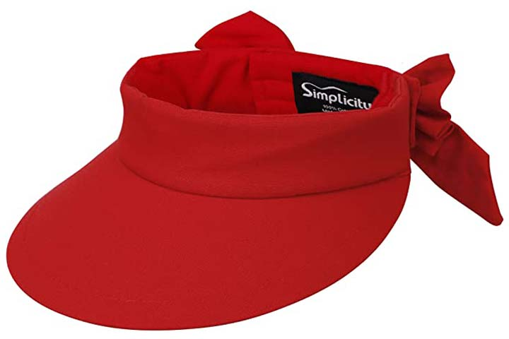 UV Protection Wide Brim Beach Sun Visor Hat