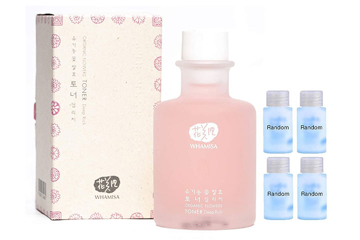 Whamisa Organic Flowers Toner For Face And Body