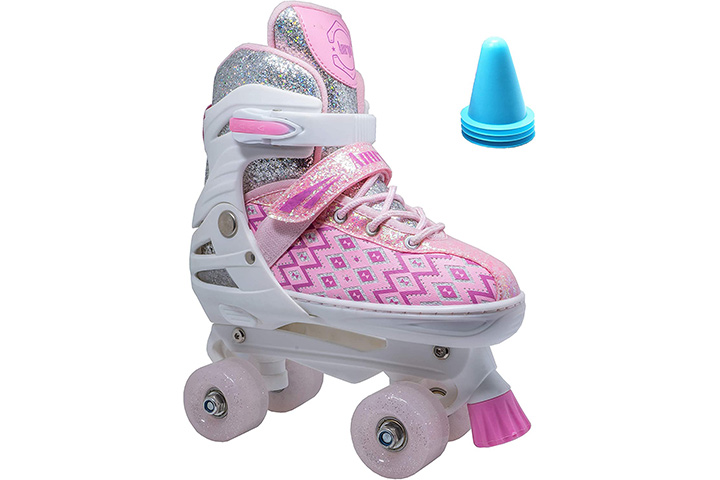 WiiSham Fun Roll Adjustable Canvas Roller Skates