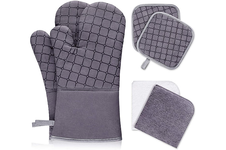 XO 6Pcs Oven Mitts and Pot Holders