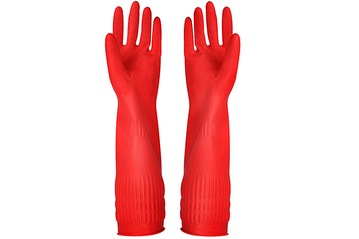 YSLON's Rubber Cleaning Gloves Kitchen Dishwashing