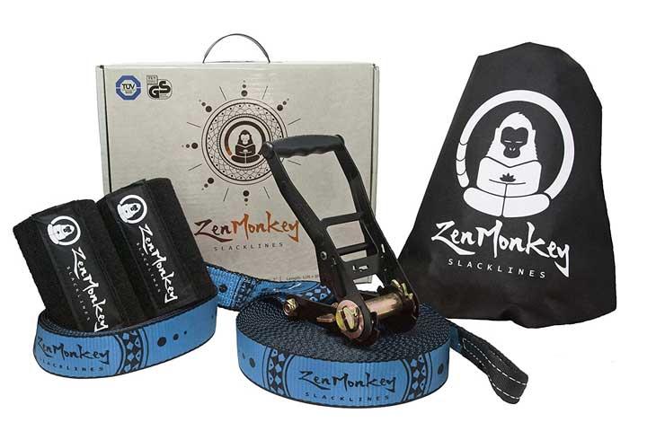 ZenMonkey Slacklines Kit with Tree Protectors