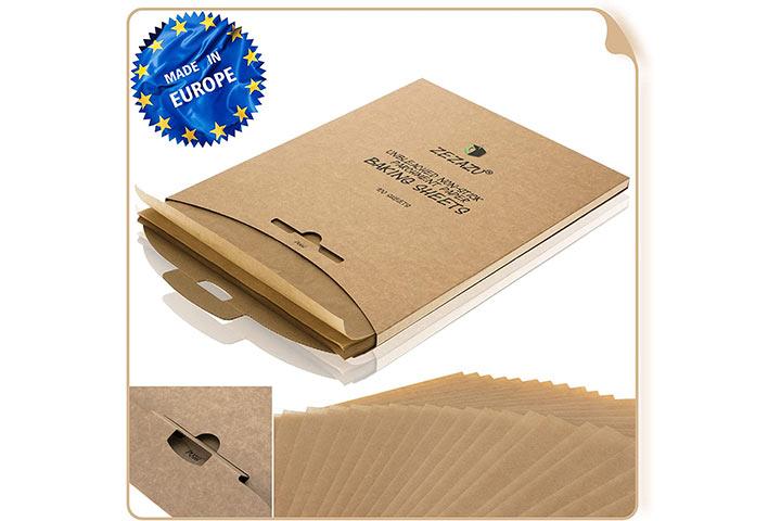 Zezazu Unbleached Non-Stick Parchment Paper Baking Sheets