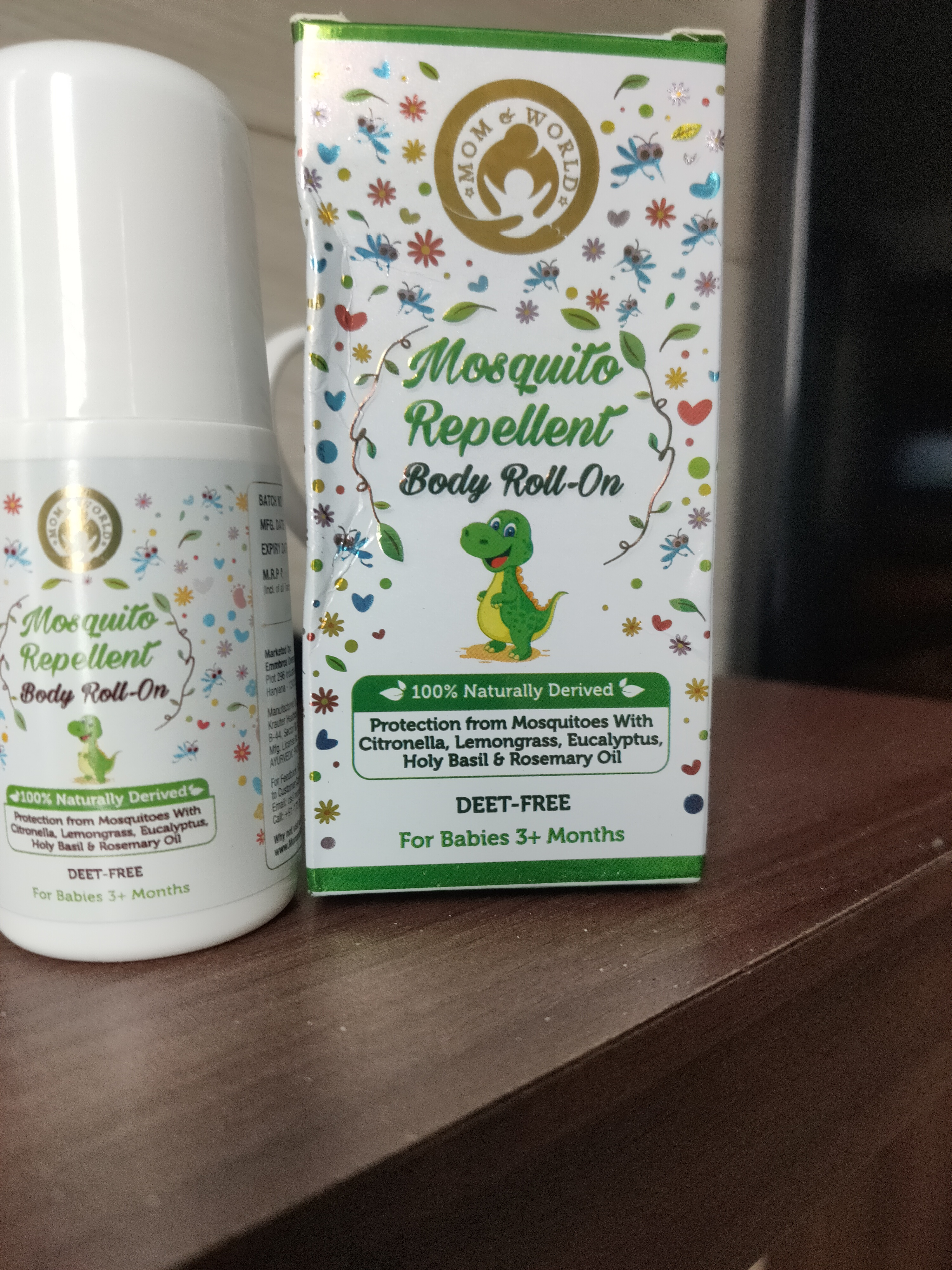 Mom & World Baby Mosquito Repellent Body Roll On-Protects kids against mosquitoes-By suhanibathla