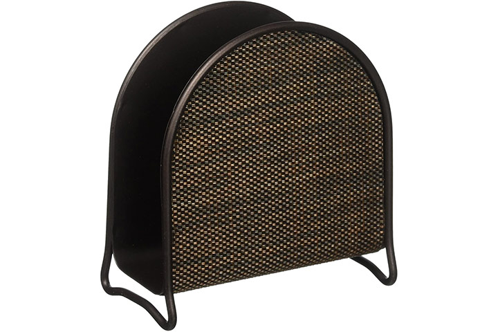 mDesign Metal Woven Paper Napkin Holder