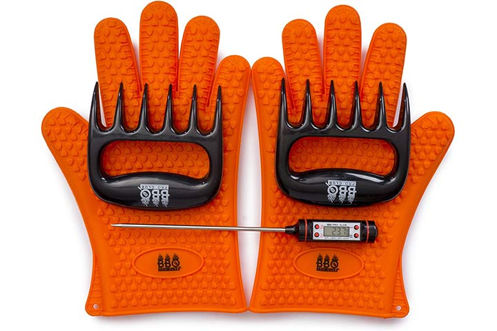 AMZ BBQ Gloves, Meat Claws, and Digital Thermometer