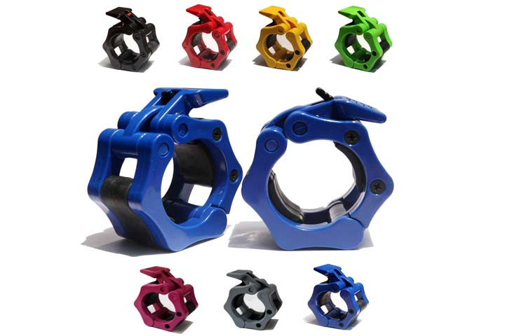 AbraFit 2-Inch Olympic Barbell Clamps