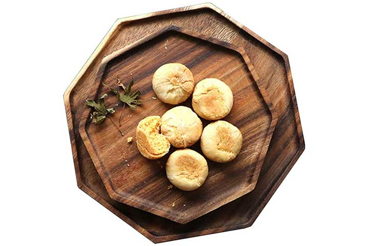 Acacia Wooden Octagon Square Trays by Renawe