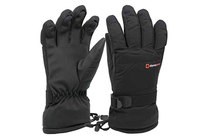 Alpine Swiss Men's Waterproof Gauntlet Ski Gloves