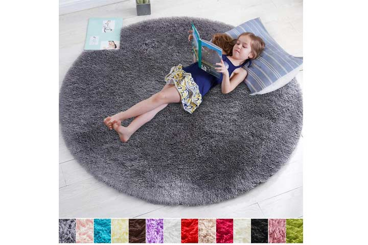 Amdrebio Round Rug For Bedroom
