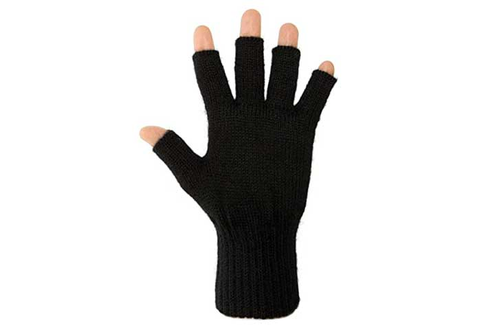 AndeanSun Darn Warm Alpaca Fingerless Gloves