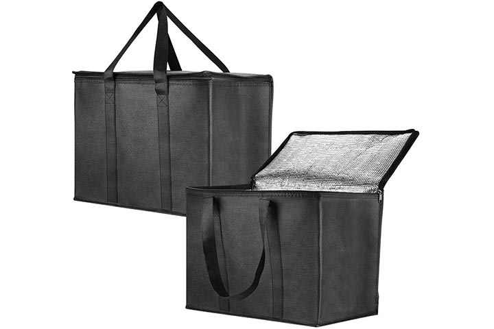Anleo Insulated Reusable Grocery Bag for Shopping