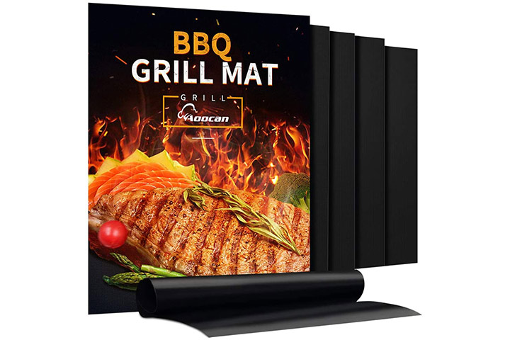 Aoocan Grill Mat Set of 5 Heavy Duty BBQ