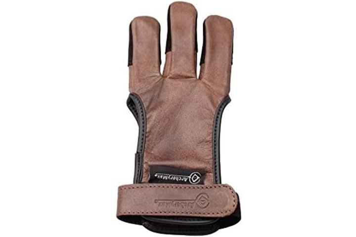 ArcheryMax Three Finger Leather Archery Gloves