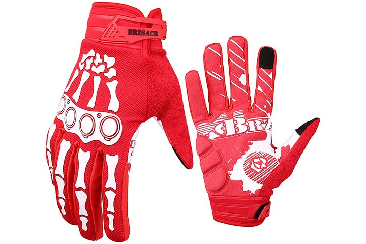 BRZSACR Cycling Gloves Skeleton Bone