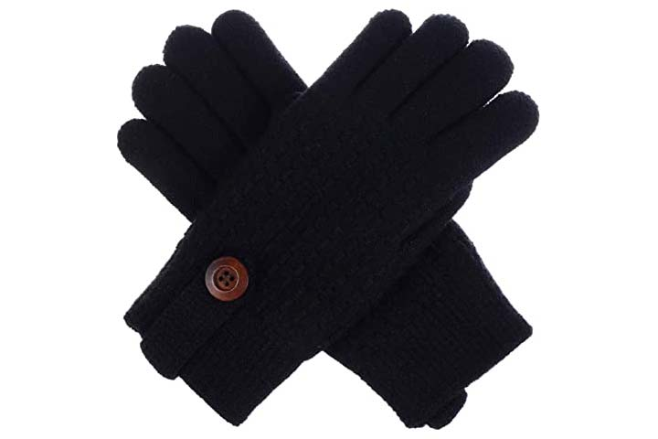 BSB LL Womens Winter Knit Gloves-1