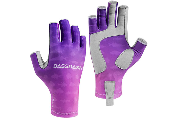 Bassdash Sun Protection Gloves For Fishing