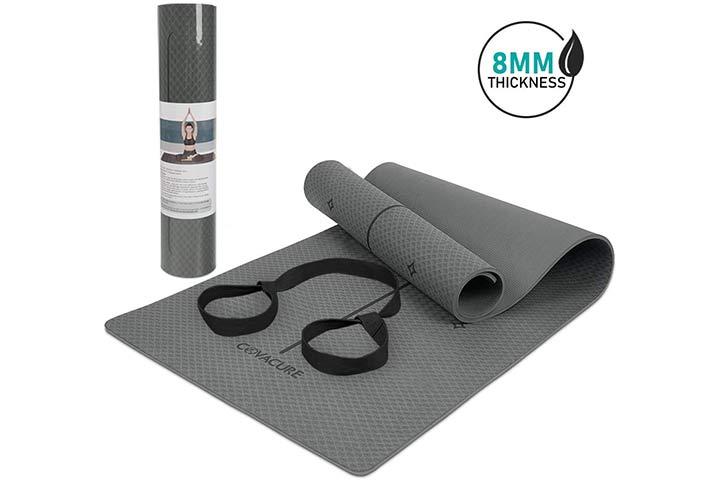 COVACURE TPE Non-Slip Yoga Mat - Grey