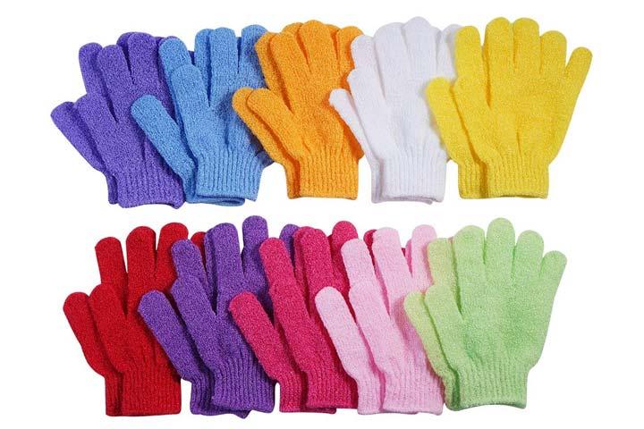 CVNDKN Exfoliating Bath Gloves