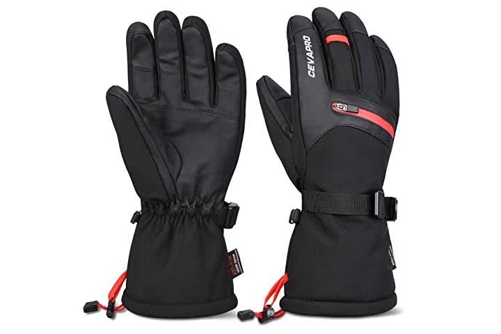 Cevapro Winter Gloves Waterproof Ski Gloves