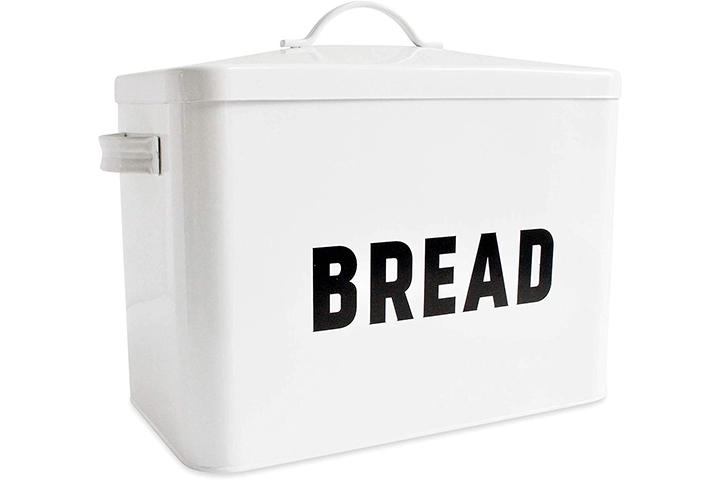 Claimed Corner Metal Bread Box