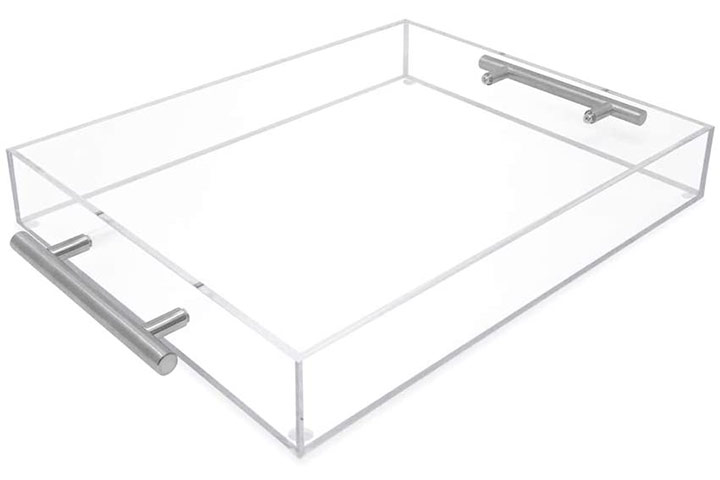 Clear Acrylic Serving Tray by Isaac Jacobs International