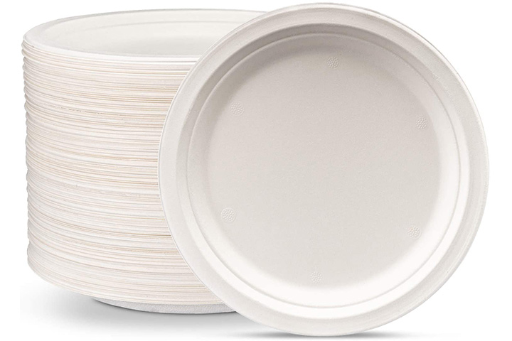 Comfy Package 100% Compostable Heavy-Duty Plates