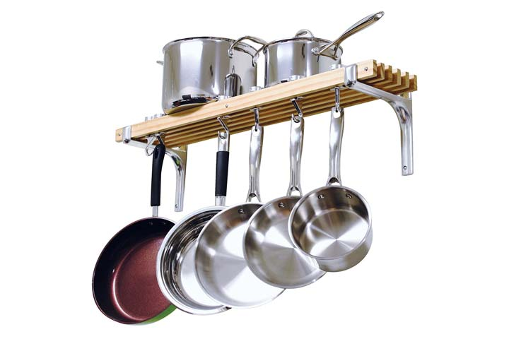 Cooks Standard Store Wall Mounted Wooden Pot Rack