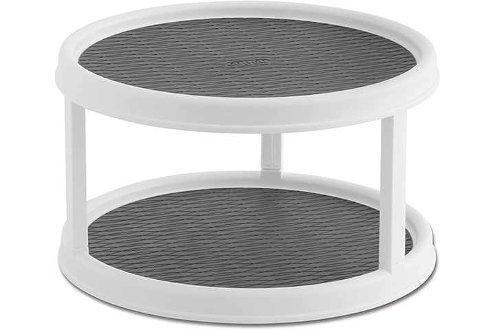 Copco 2555-0187 Non-Skid 2-Tier Pantry Cabinet Lazy Susan Turntable