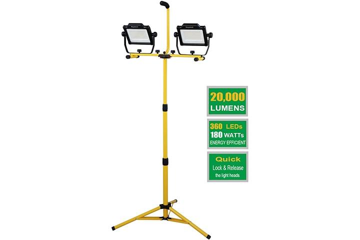 Dayatech 180W 20000 Lumen Dual-Head LED Work Light