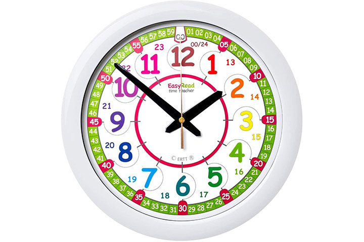 Easy Read Time Teacher Wall Clock