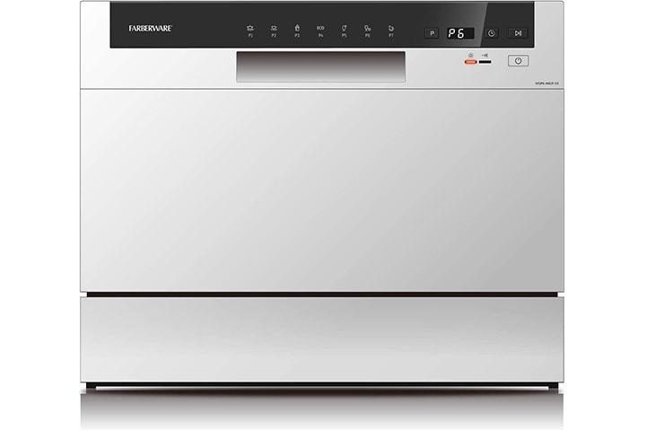 Farberware Professional FCD06ABBWHA Compact Portable Countertop Dishwasher