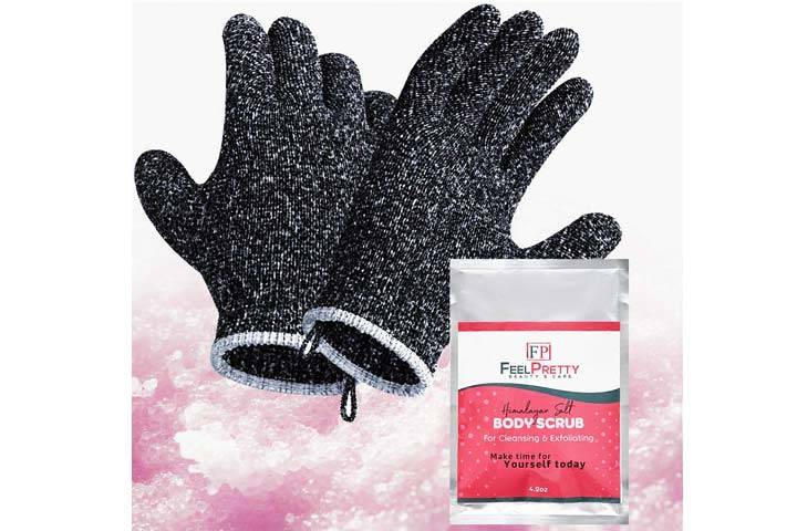 Feel Pretty Beauty Care Exfoliating Gloves Set