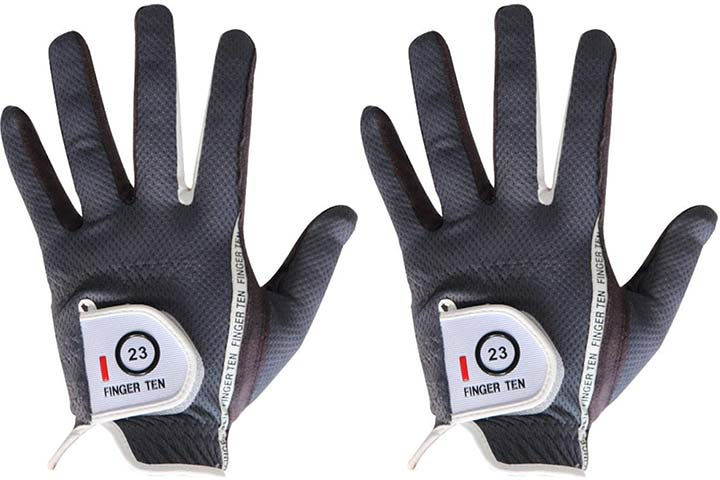 Finger Ten Men's Golf Glove Rain Grip