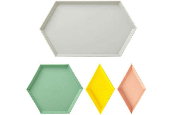 Geometric Food Serving, Jewelry Tray by Unikon