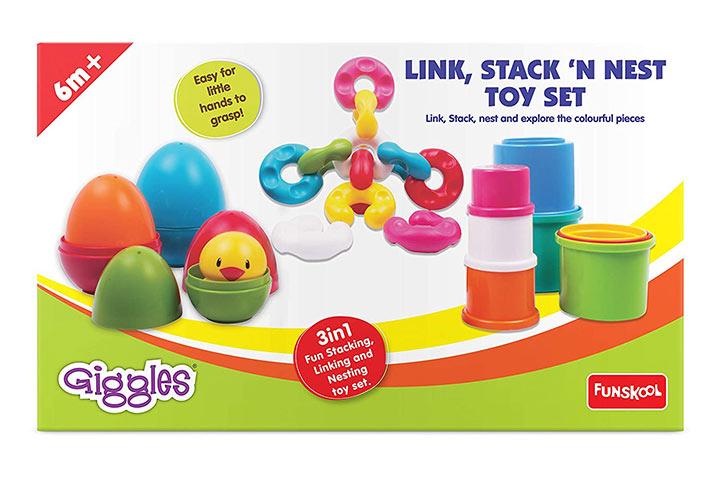 Giggles link, stack n nest toy set