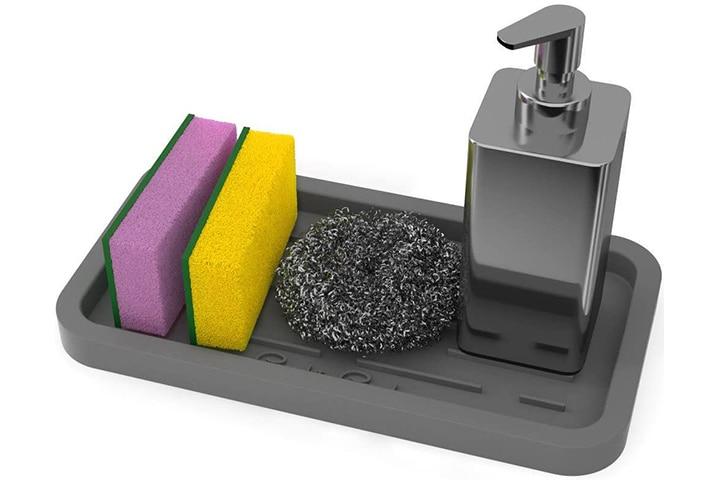 Good to Good Silicone Sponges Holder - Kitchen Sink Organizer Tray