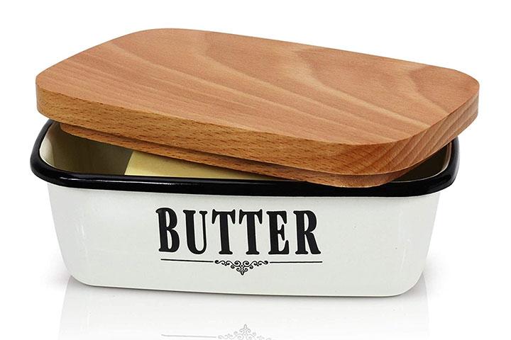 Granrosi Butter Dish - Beautiful Farmhouse Kitchen Decor Butter Container