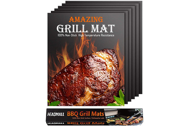 HEADMALL Grill Mat - Black