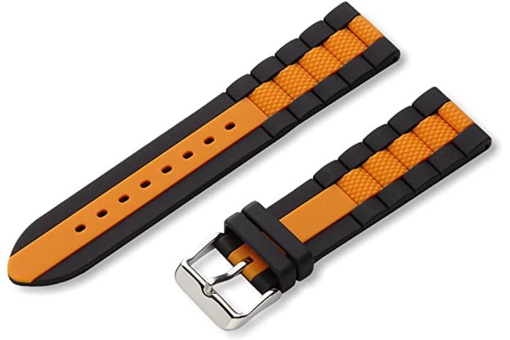 Hadley-Roma Men's Genuine Silicone Watch Strap