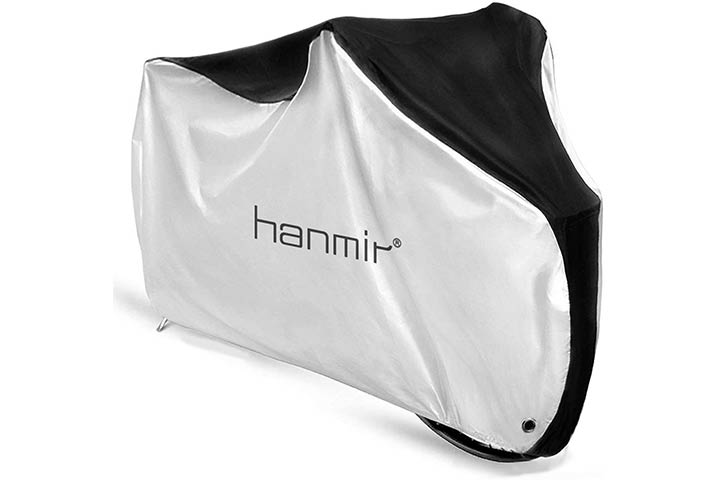 Hanmir Bike Cover, Waterproof Outdoor Bicycle Cover with Lock Hole