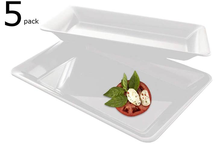 Heavy Duty Plastic Serving Tray by Zappy